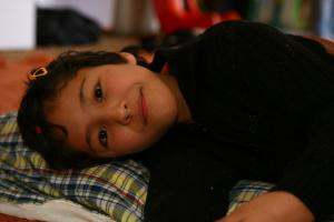 Kind aus REWA Society in Leh