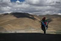 Tibetischer Motorradfahrer
